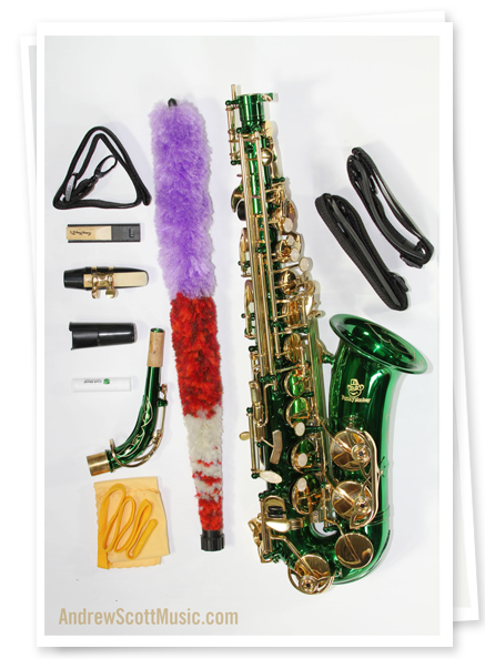 Order Green and Gold Alto Saxophone