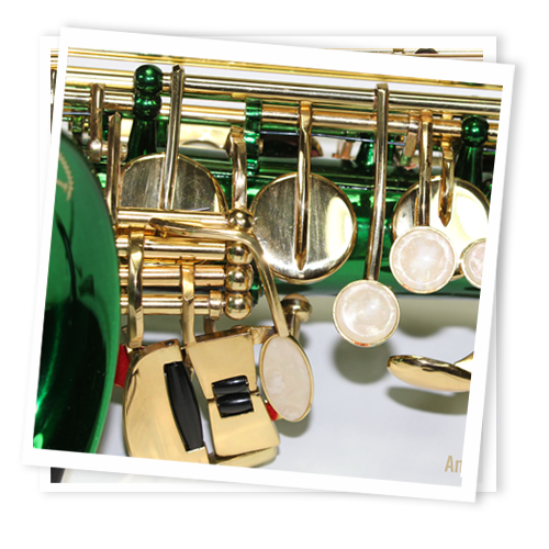 Cheap Green and Gold Alto Saxophone