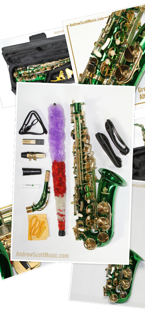 Green gold Saxophone