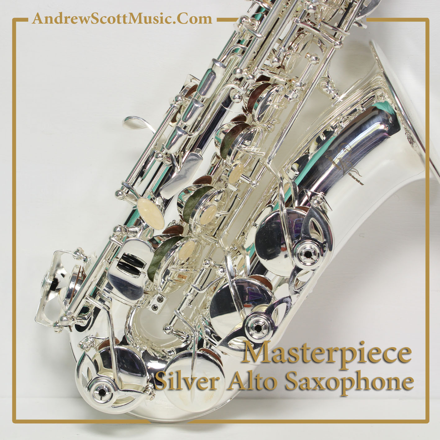 Silver-Plated Saxophone