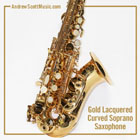 Curved Saxophone Gold