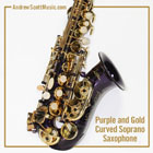 Curved Saxophone Purple