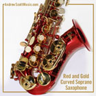 Curved Saxophone Red