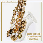 Curved Saxophone White