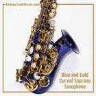 Curved Saxophone Blue