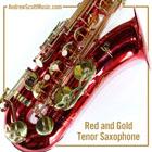 Masterpiece Tenor Saxophone Red
