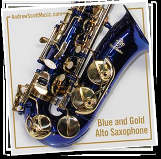 Blue Gold Saxophone