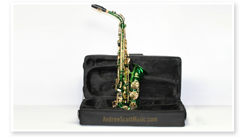 Buy Green and Gold Alto Saxophone in Case