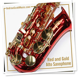 Red Gold Saxophone