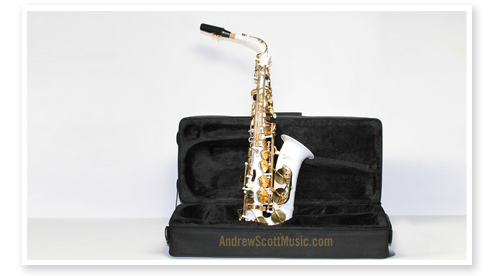 masterpiece white gold alto saxophone