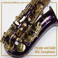 Purple Gold Saxophone
