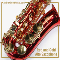 Buy Red Gold Saxophone