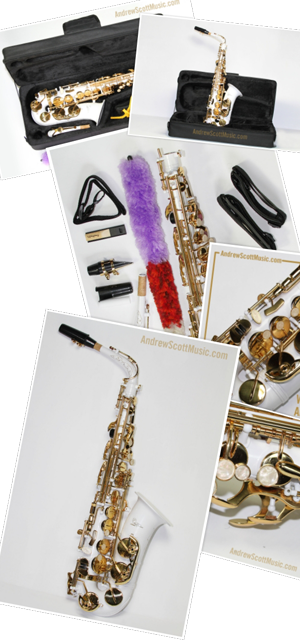 Order White Gold Saxophone now