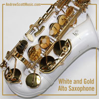 White Gold Saxophone