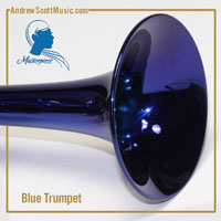 Blue & Silver Trumpet