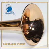 Gold Lacquer & Silver Trumpet