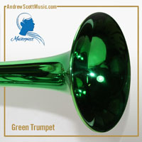 Green & Silver Trumpet