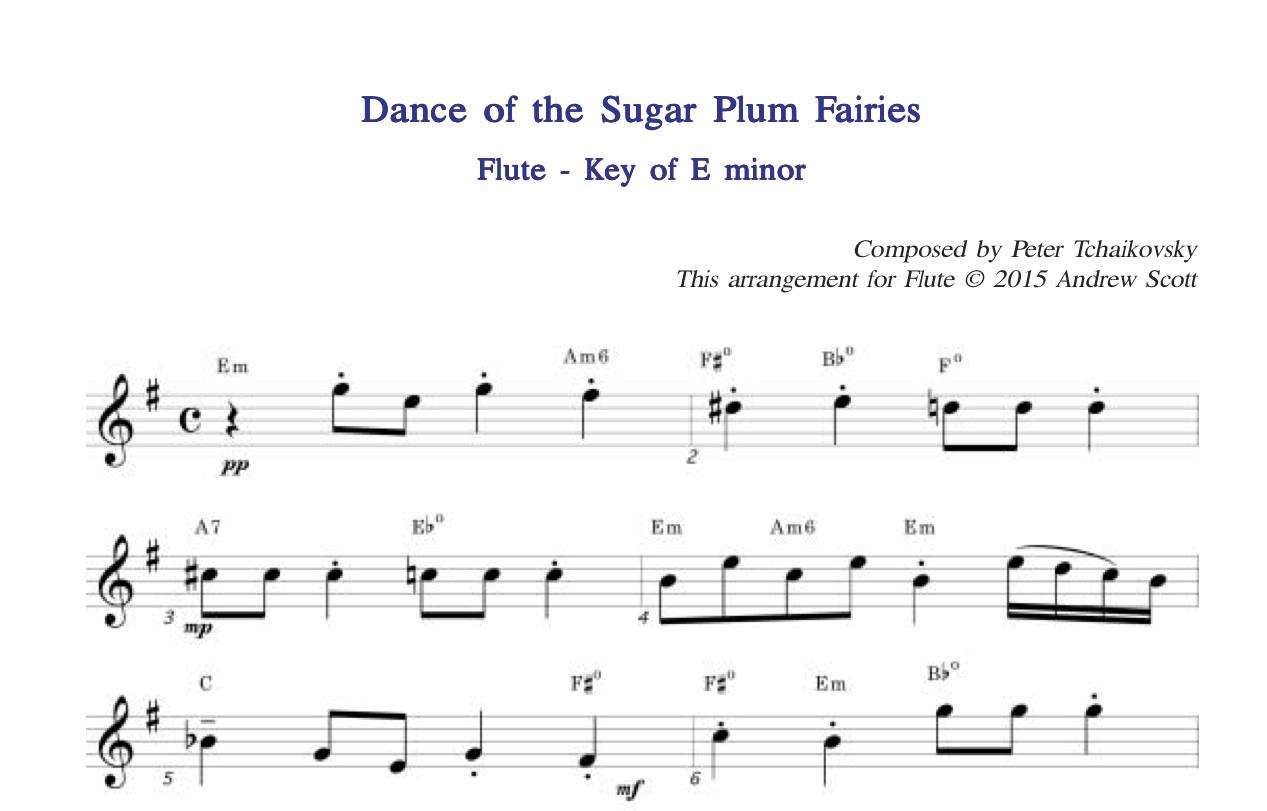 Dance of the Sugar Plum Fairies - Flute sheet Music